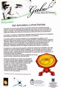 Del astrolabio y otras yerbas
