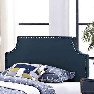 Laura Upholstered Panel Headboard Size: Twin, Upholstery: Azure ...