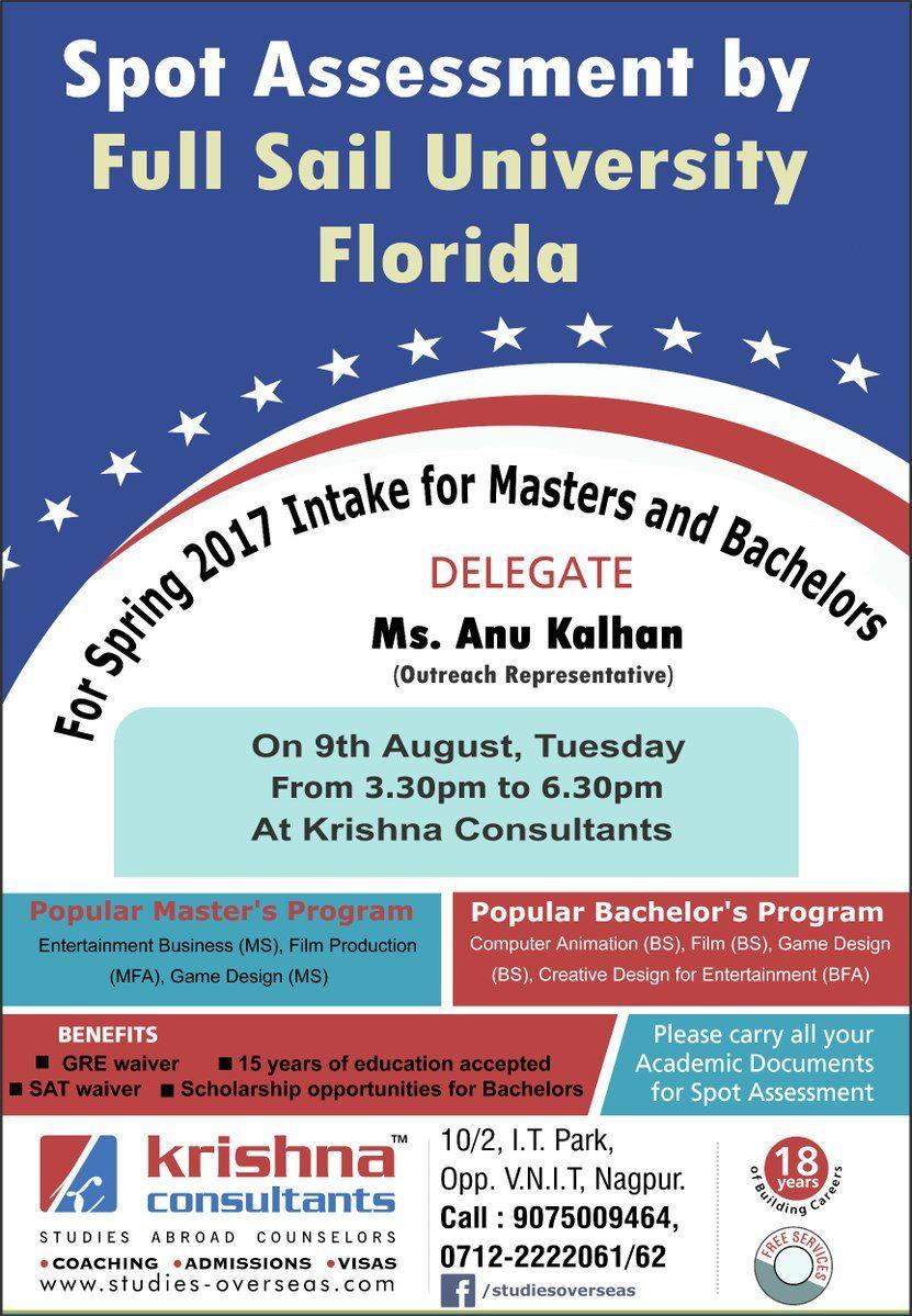 Spot Assessment By Full Sail University, Florida. Venue: Krishna ...