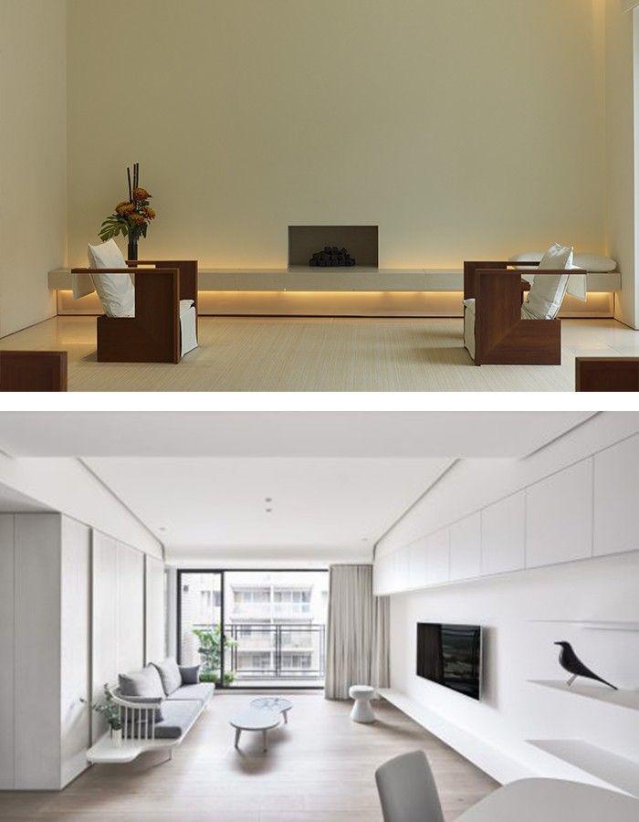 minimalistisch einrichten weißes ambiente kreieren Wohnzimmer