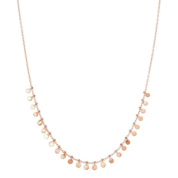 Sia Taylor Medium Rose Gold Seed Necklace (631 850 CRC