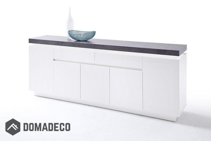 Best Atlanta Typ 75 Long White Black Dresser Cheap Black 400 x 300