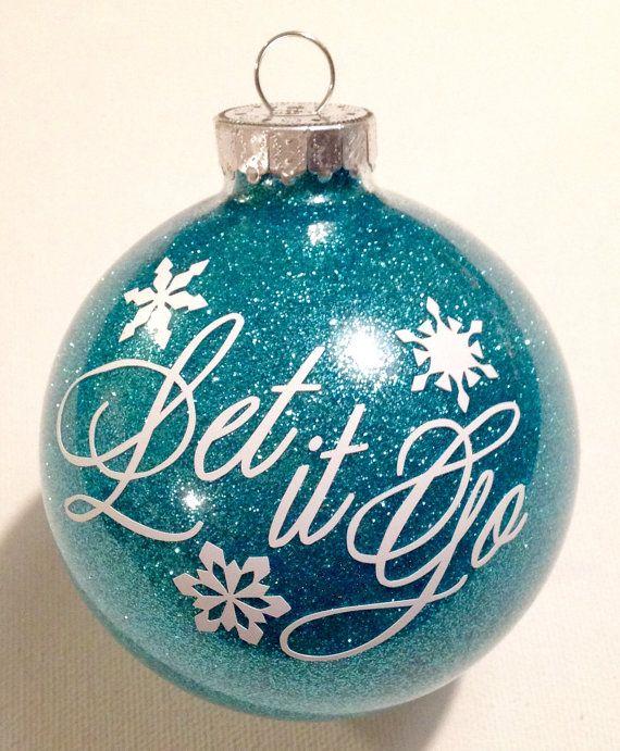 Frozen Inspired Christmas Glitter Ornament Let It Go