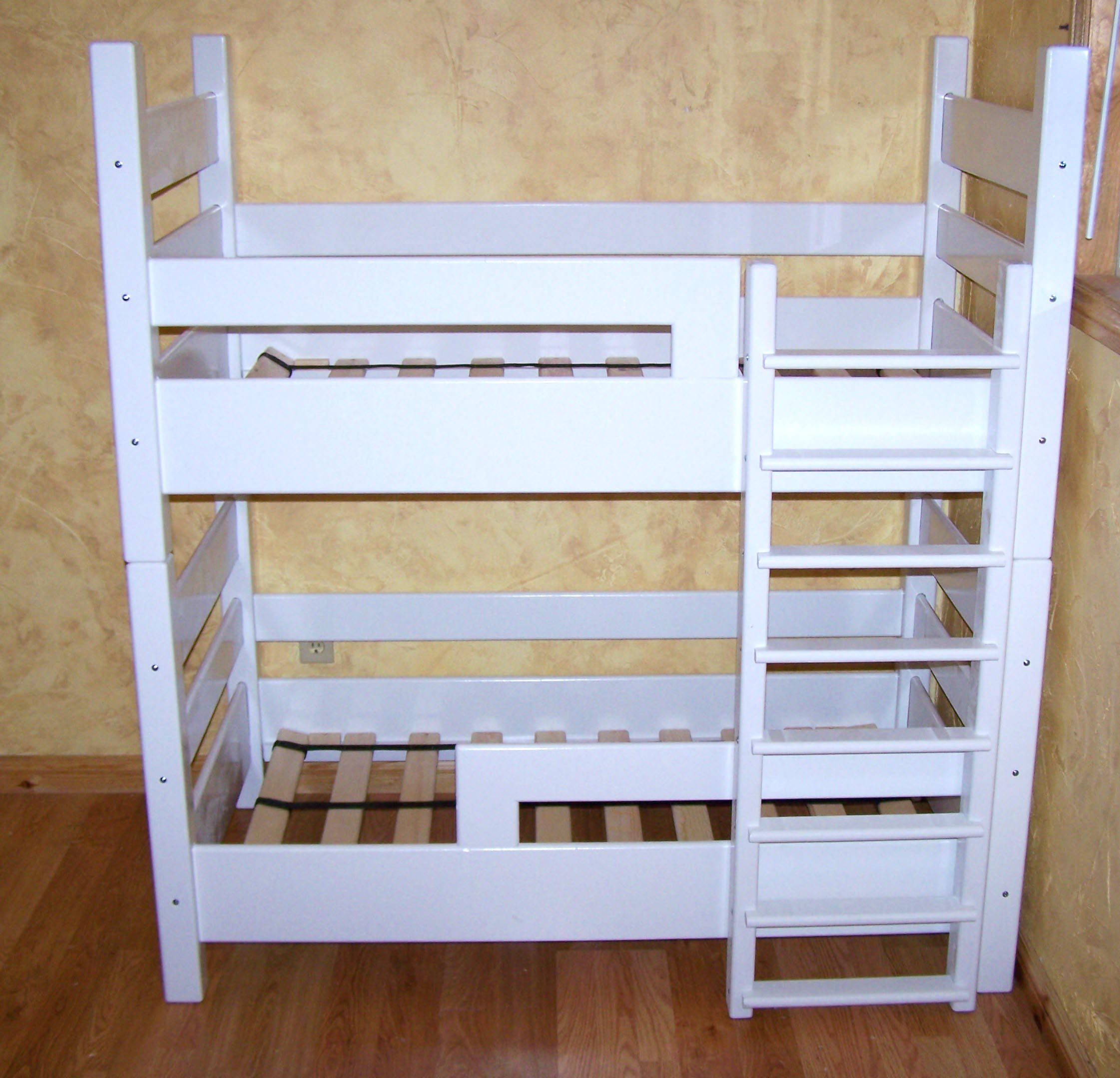 crib size bunk bed around the house pinterest beds. Black Bedroom Furniture Sets. Home Design Ideas