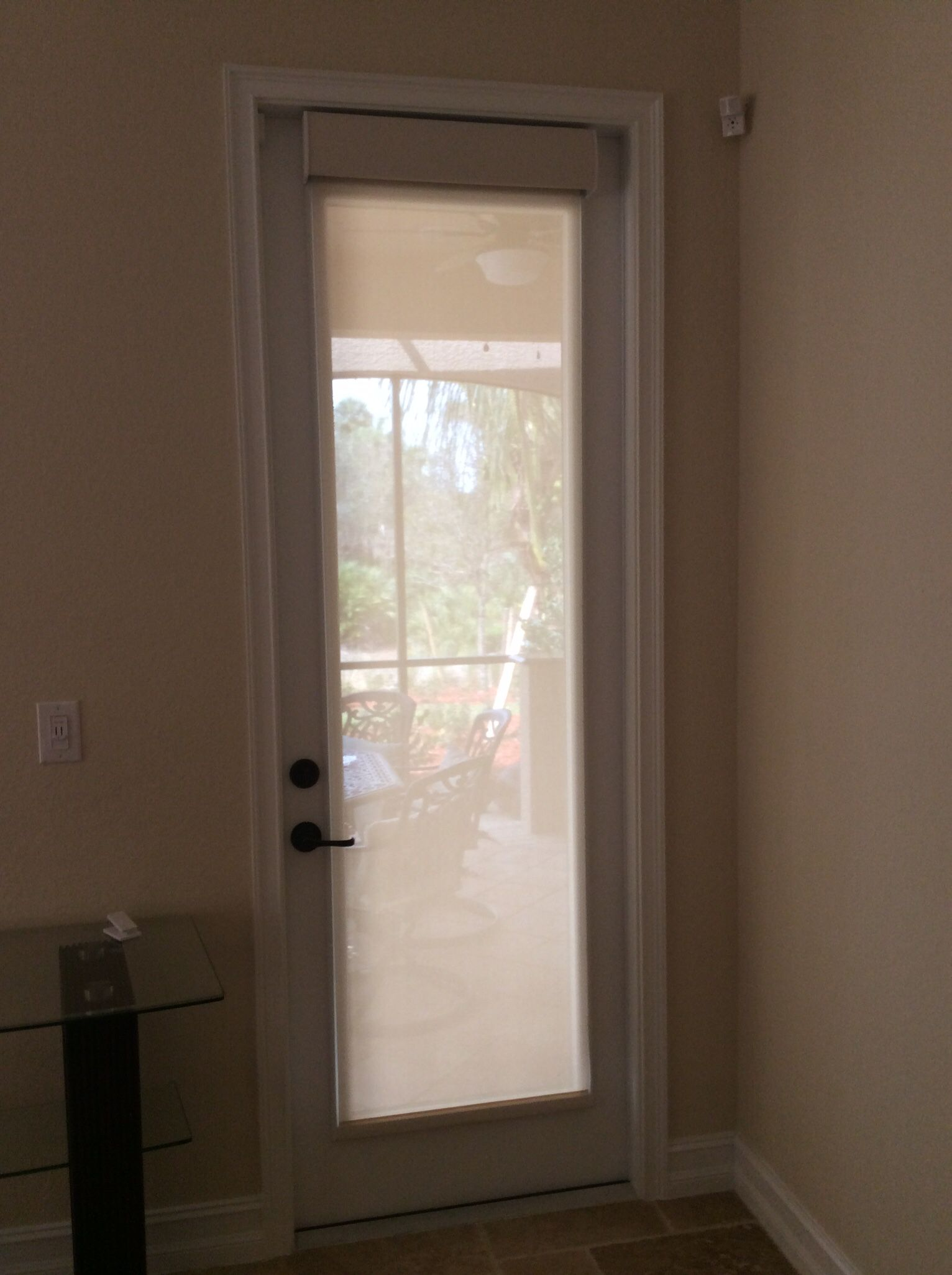 Motorized shade on front door motorized shades in