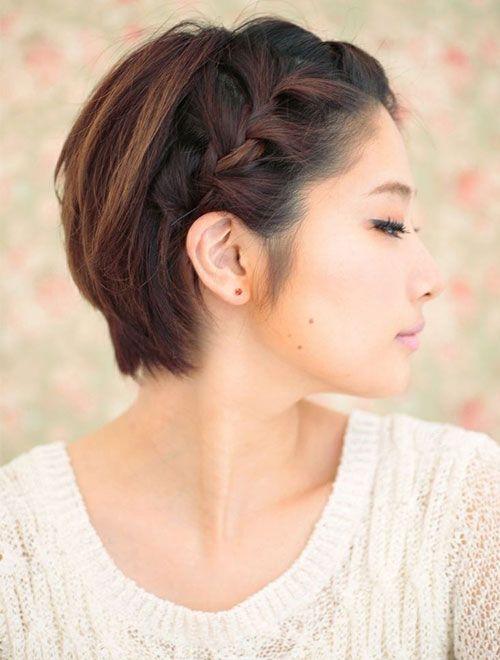 Trenzas en pelo corto mujer