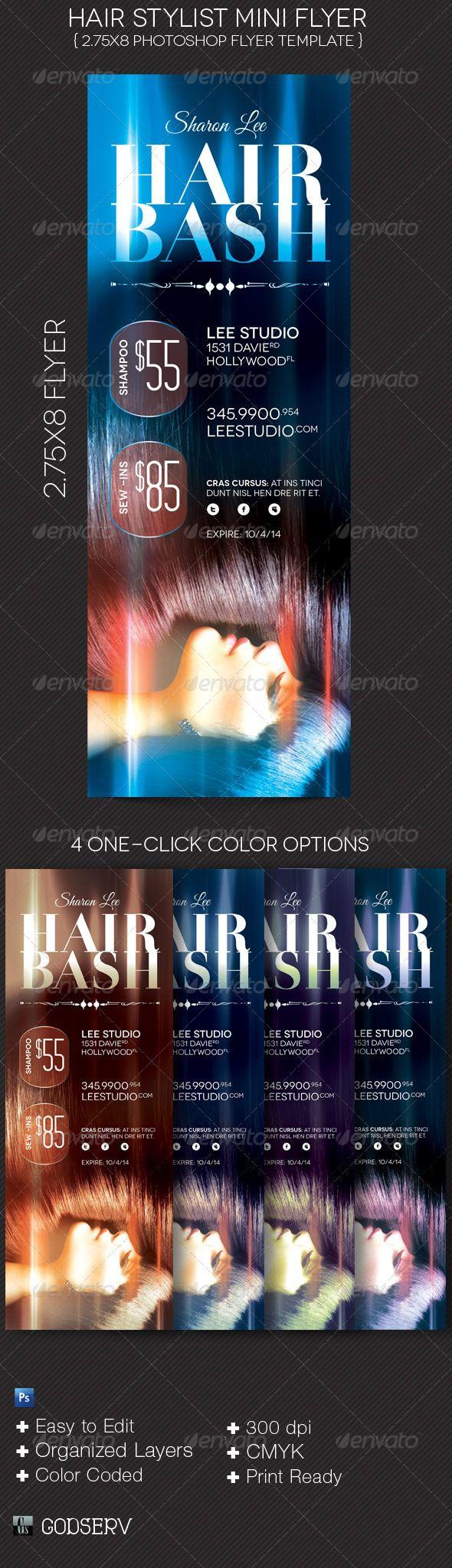 hair stylist mini flyer template flyer ideas pinterest flyer