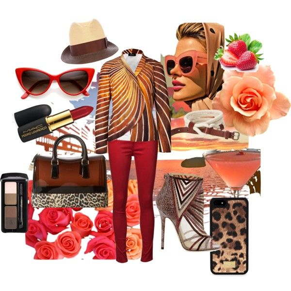 """Sunset Style"" by marmelady on Polyvore"