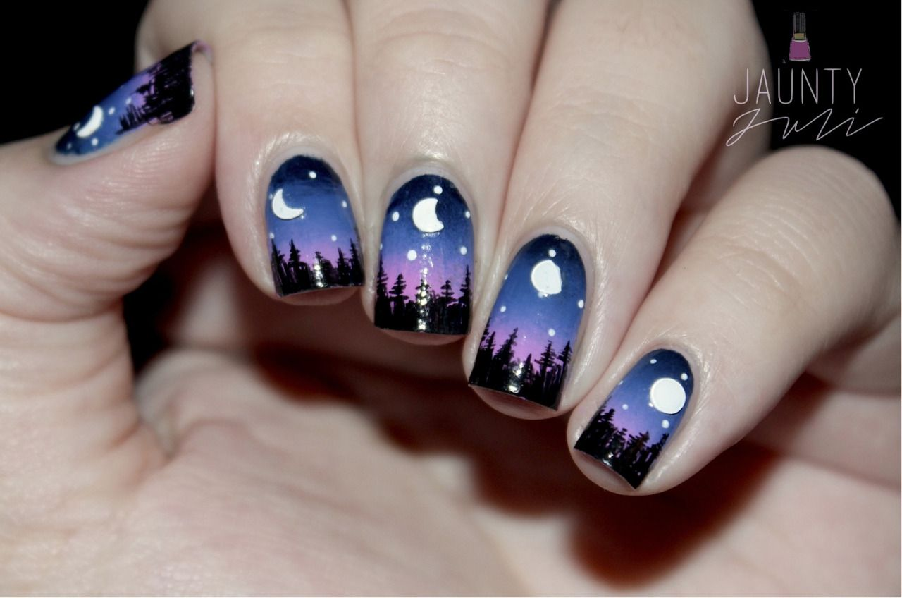 Moon Phase Nail Art Cool Nails Pinterest Moon Phases