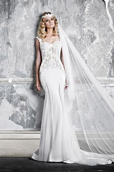 Pallas Couture 'La Promesse' Bridal Collection debuting at New York International Bridal Fashion Week.