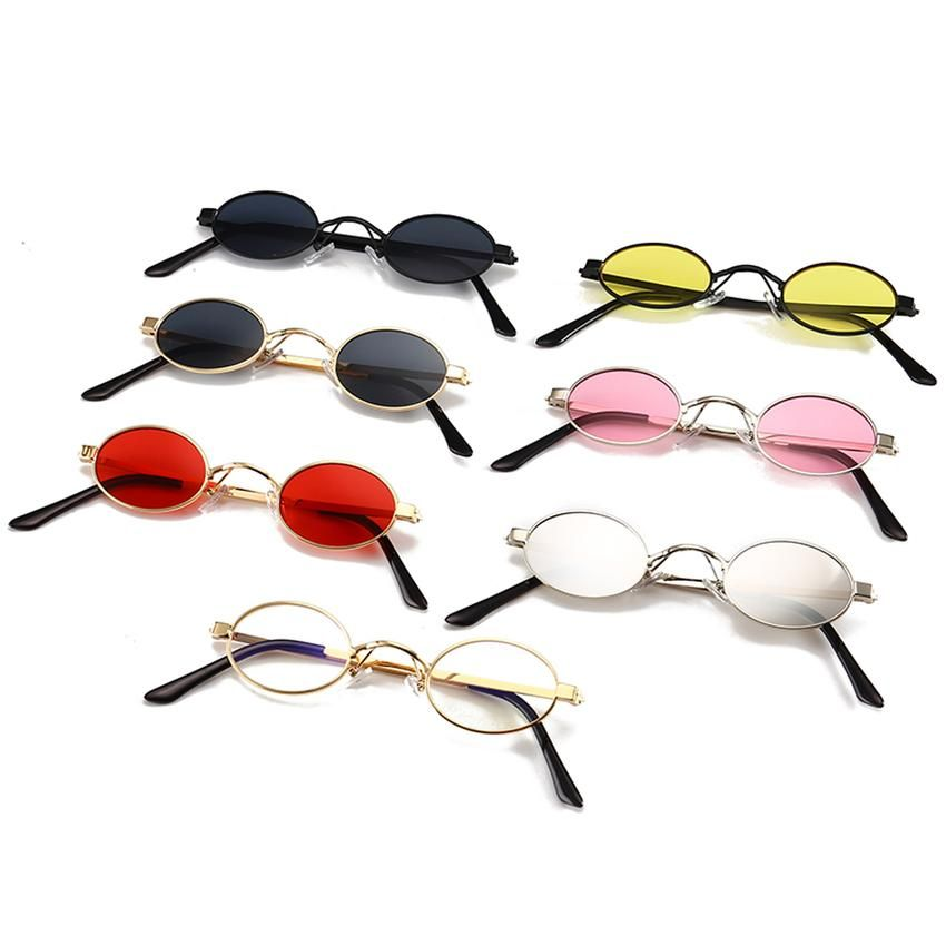 cf71f452d1 Peekaboo small  oval  sunglasses men round 2018 metal frame unisex gold  black red small sun glasses for women round uv400  8.99