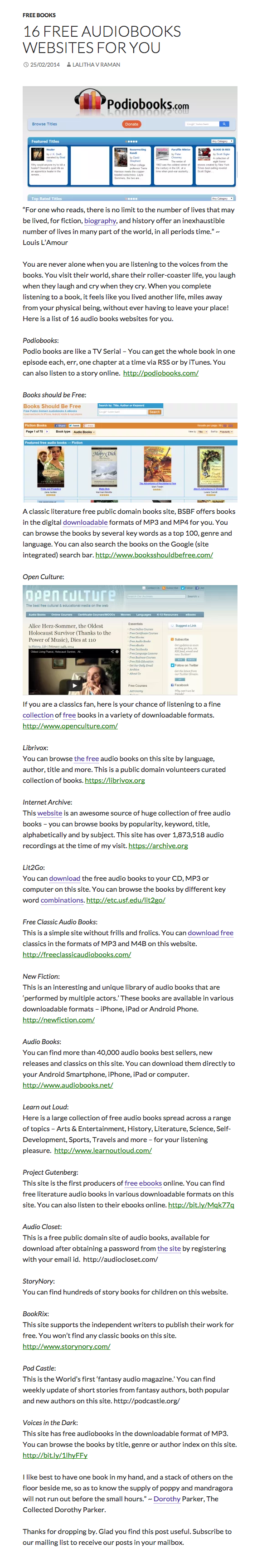16 Free Audiobooks Websites for You - Simply A Writer