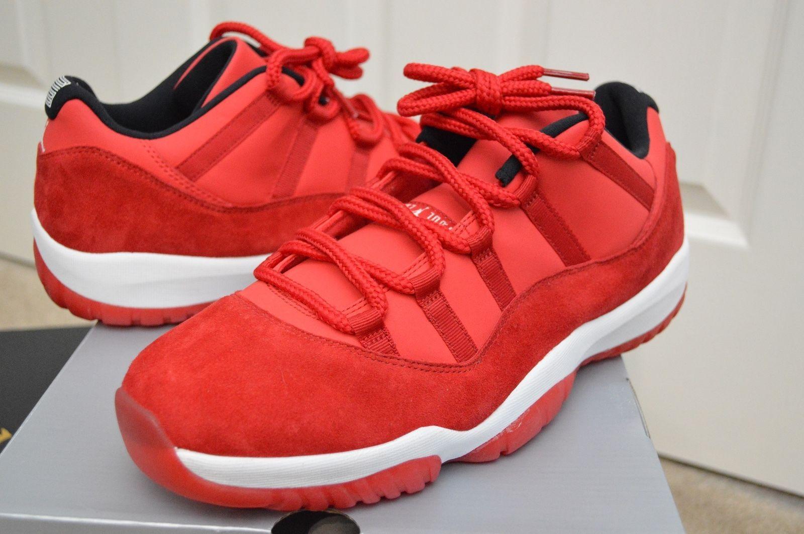 f2a609cf3d0 New DS Nike Air Jordan 11 (XI) Retro Low Sz 12 Red Suede Rare PE ...