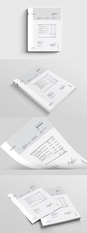 Fashion Invoice Template Indesign Indd Envelope Later Head