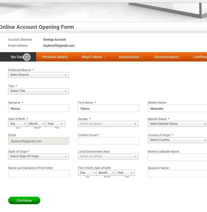 how to open gtb account online