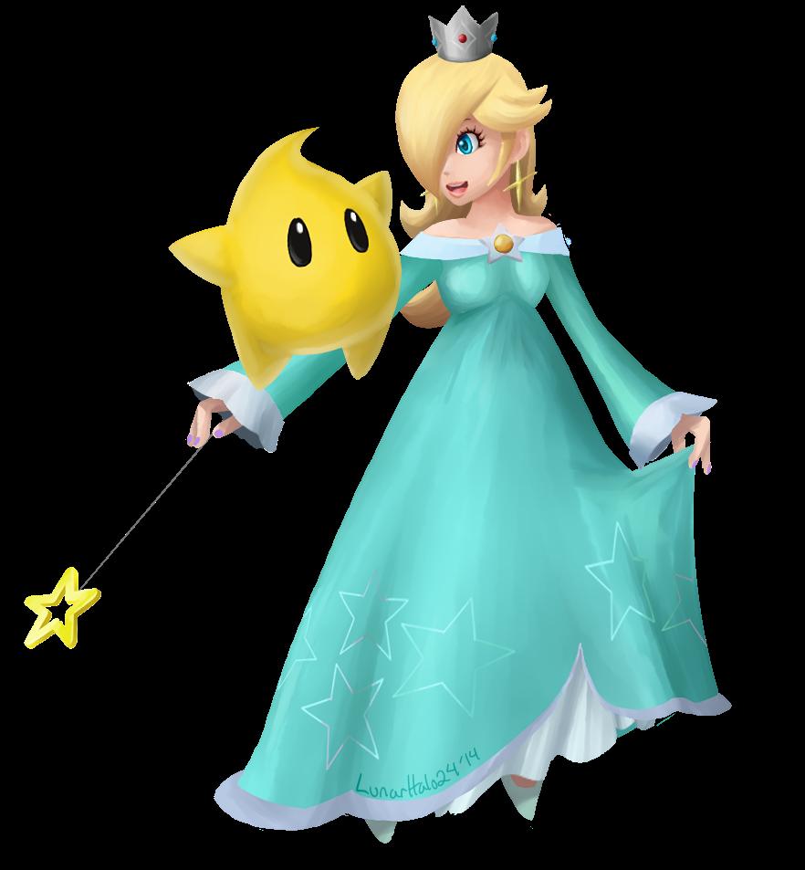 Rosalina And Luma By Lunarhalo24 Deviantart Com On Deviantart Super Mario Princess Super Mario Bros Mario Art
