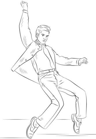 Elvis Presley Coloring Page From Pop Stars Celebreties Category Select From 25266 Printable Crafts Of Ca Elvis Presley Photos Elvis Presley Drawing Tutorial