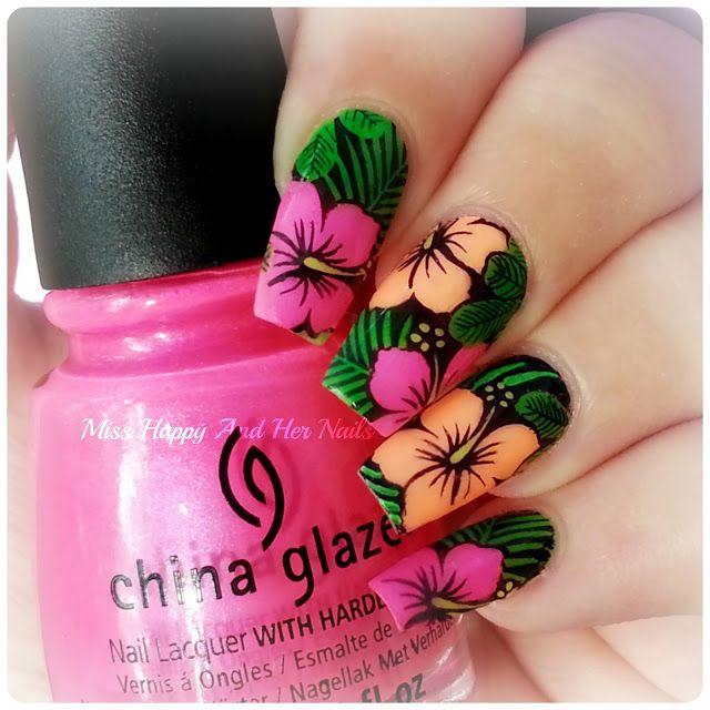 Nail Art Marathon - Stamping decals | Stamping nailart 6 | Pinterest ...
