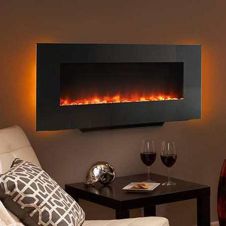 Hearth Home 38 In Black Linear Wall Mount Electric Fireplace Sf Wm38 Bk Wall Mount Electric Fireplace Hanging Fireplace Electric Fireplace