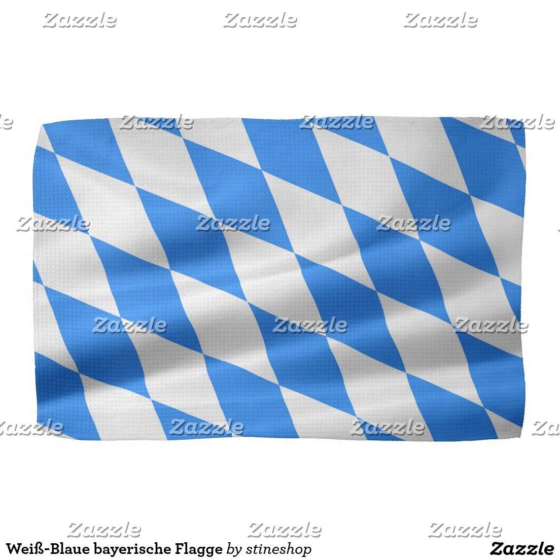 Bavarian White Blue Flag Towel Zazzle Com Bavarian Flags Flag Flags Of The World