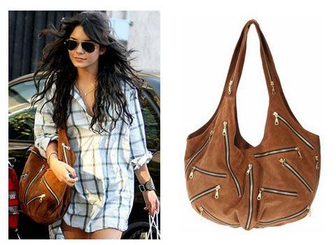 Vanessa Hudgens with a JJ Winters zipper tote #handbag #bags ...