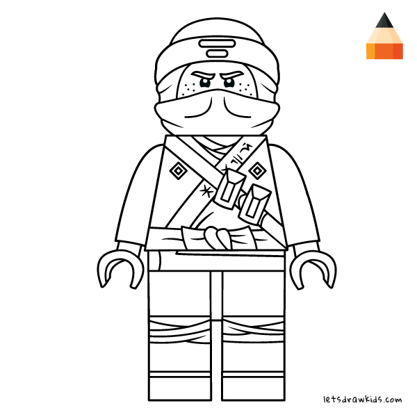 Coloring Page For Kids How To Draw Lego Jay Ninjago Ninjago Coloring Pages Jay Ninjago Lego Coloring Pages