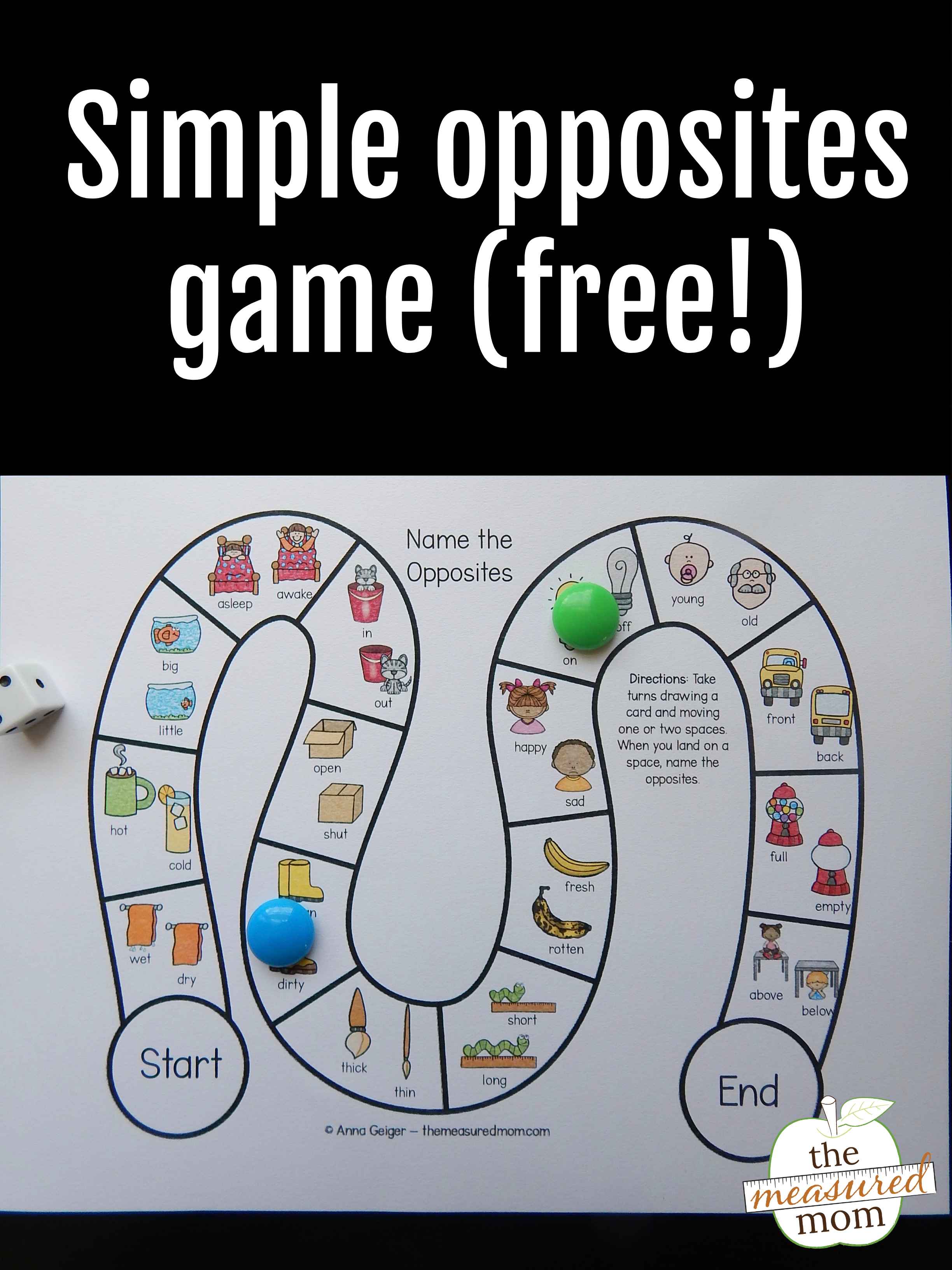 Free Opposites Games For Preschoolers