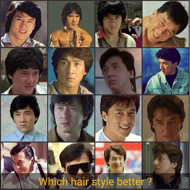 Which Hair Style Better Jackie Chan Jackie Iconic Movies