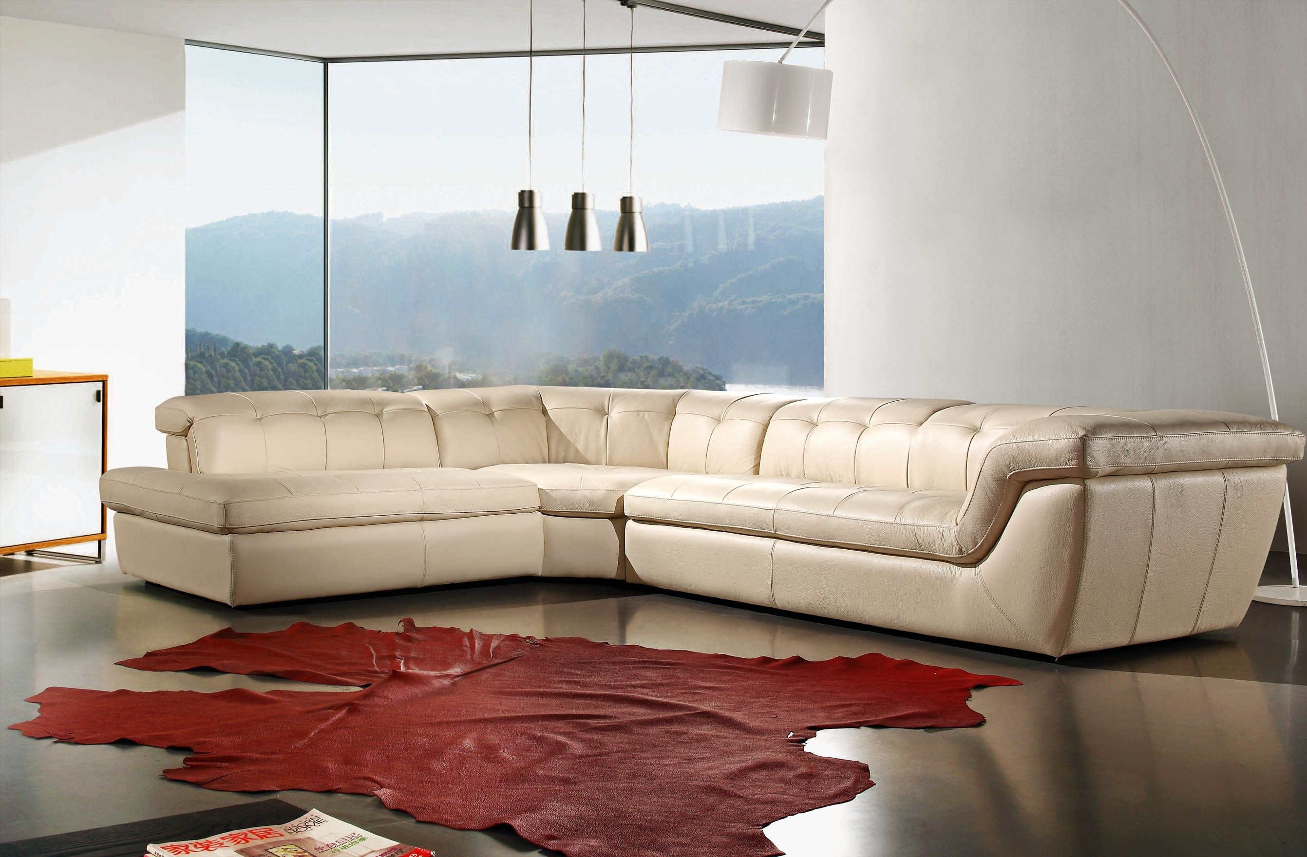 Modern White Sectional Sofa With Cado Modern Furniture Also White