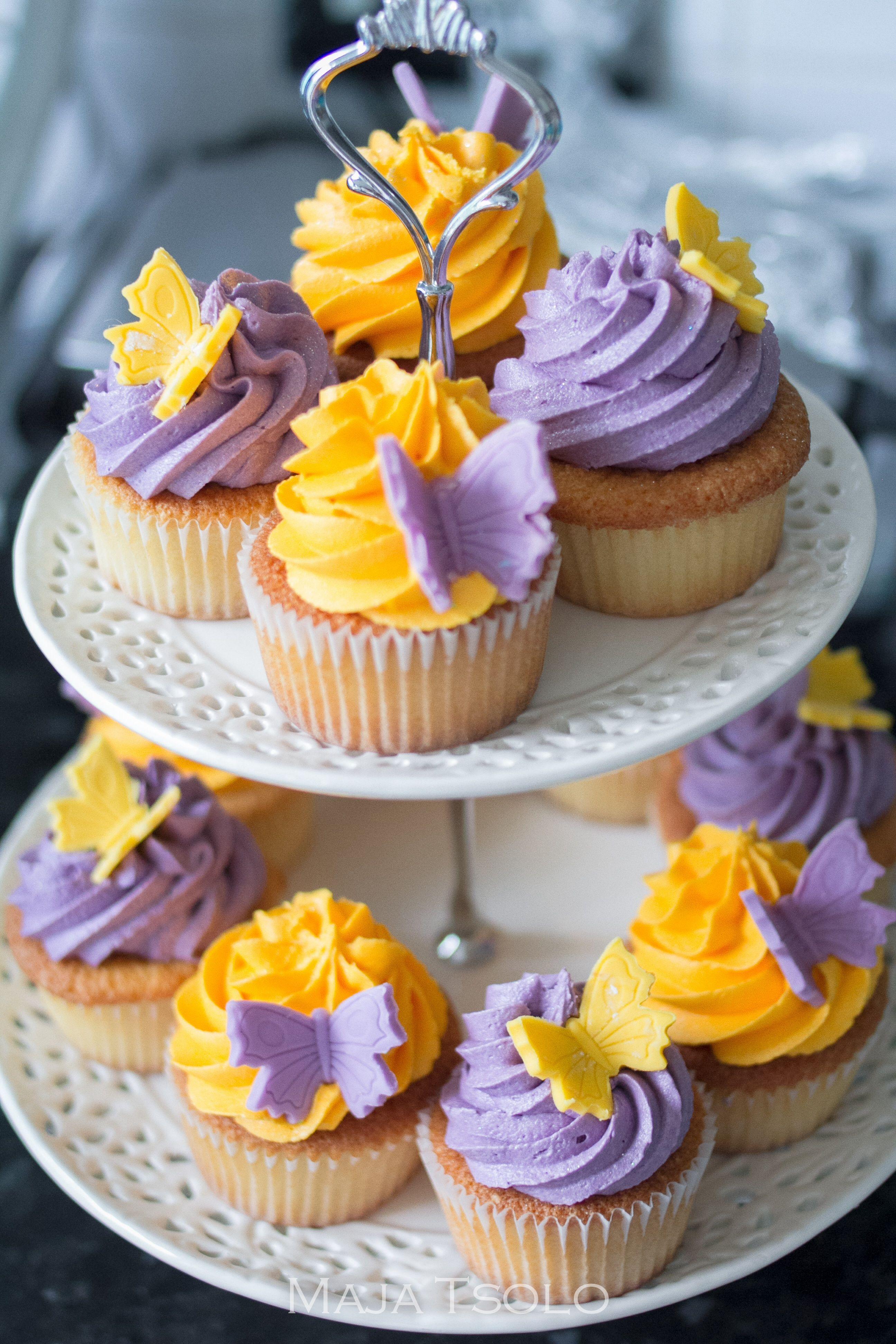 Garden tea party cupcakes