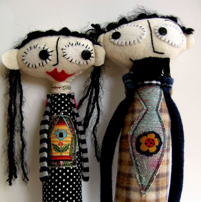 Nanette and Roger - one listing for two dolls, lovebirds and unique. $40.00, via…