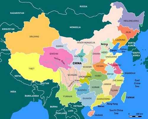 Map of Chinese Provinces in 2019 | World maps | China map ...