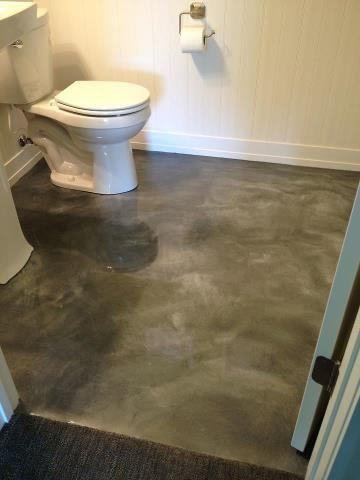 Bathroom Floor Done With Cti S Reflective Flooring System Bathroom Concrete Floor Concrete Decor Metallic Epoxy Floor
