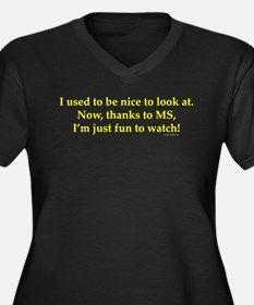 Women's Plus Size V-Neck Dark T-Shirt for