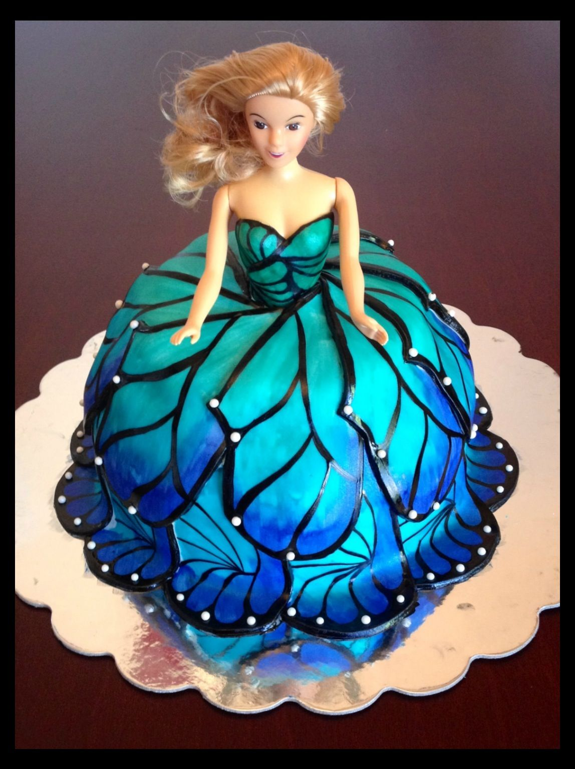 Doll Cake With A Butterfly Wing Dress
