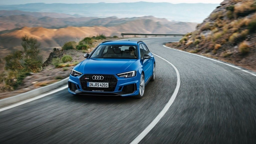 Blue Car On Road Audi Rs4 4k Wallpaper Audi Rs4 Avant Audi Rs4 Audi