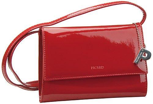 cd9d7233217d6 Picard Auguri Damentasche Rot Lack (innen  Schwarz) - Abendtasche Clutch