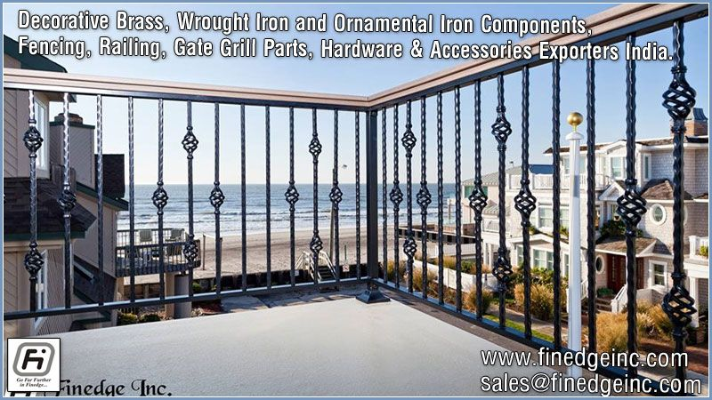 Pin by Finedge inc on wrought iron railing for stairs manufacturers