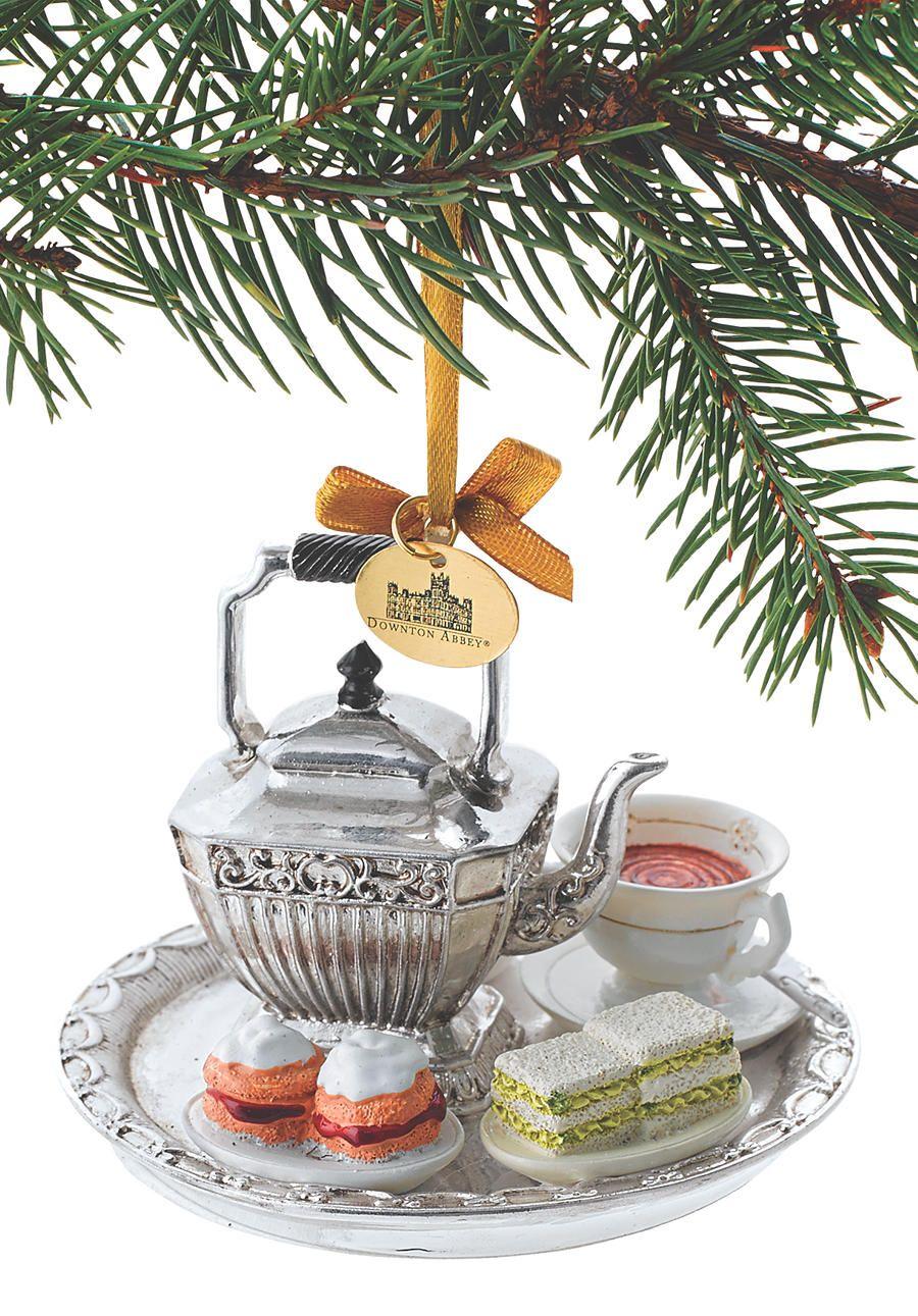 Downton Abbey Tea Set Ornament Acorn Online Christmas