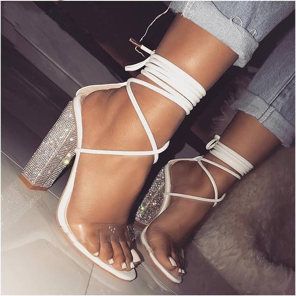 Diamond Heel Sandal Svart