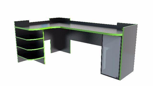 Resultado de imagem para mesa gamer em l escritorios modernos