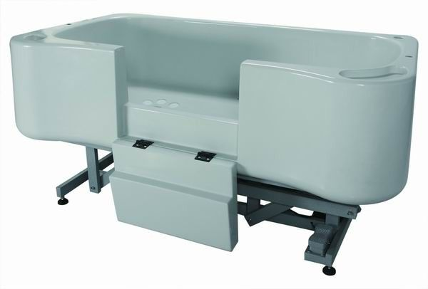 Deluxe Electric Lift Fiberglass Dog Bath With Water Heater With