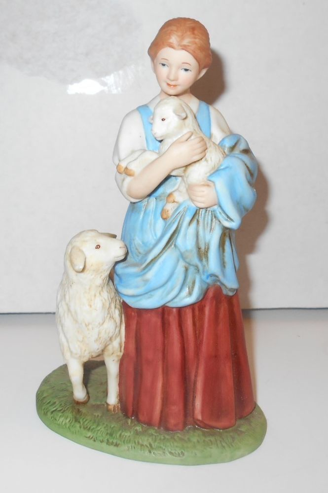 Home interiors porcelain figurine no 8870 the shepherds daughter 5259
