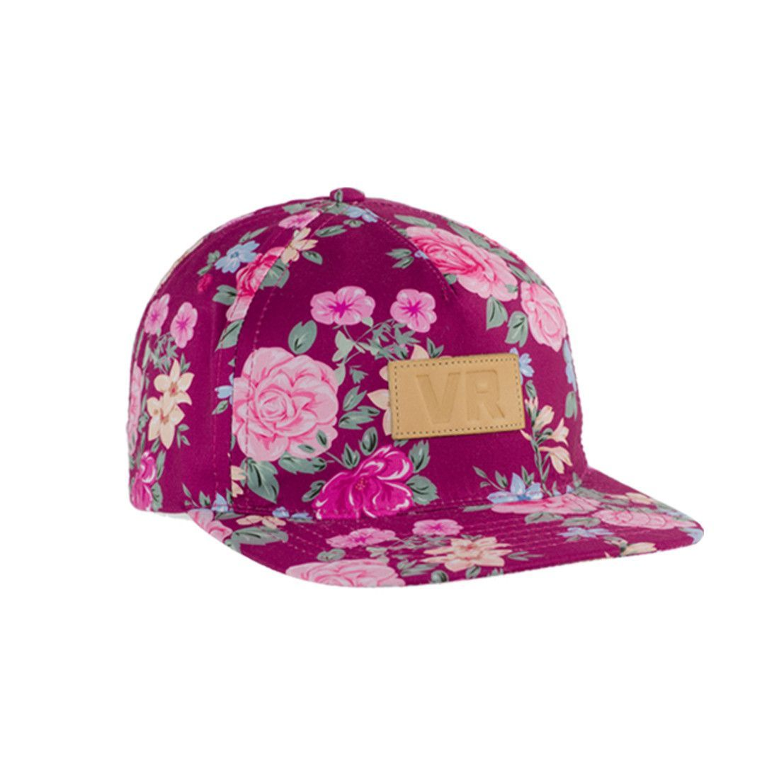 5e056116696 5 Panel snapback - Plastic snap closure - Full custom Macana Black floral  print - VR Genuine Leather debossed patch - 100% soft touch polyester fabric