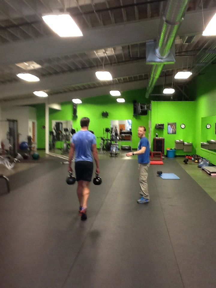 Training clients at Personal Best