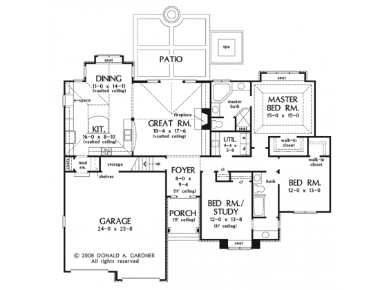 Craftsman Style House Plan 3 Beds 2 Baths 1885 Sq Ft Plan 929 923 Craftsman Floor Plans House Plans How To Plan