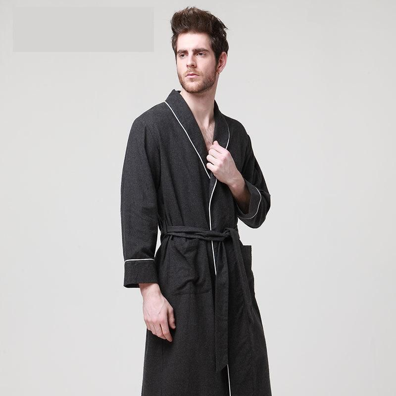 Click to Buy << Men robe mix cotton material XL-2XL bust114-120cm ...