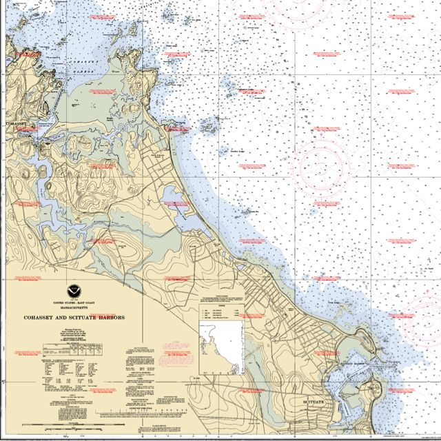 Cohet and M South Shore | Machusetts Nautical Ocean ... on map of metro boston ma, map of streets north adams, map of mass coastline, map of so shore ma, map of ri and ma,
