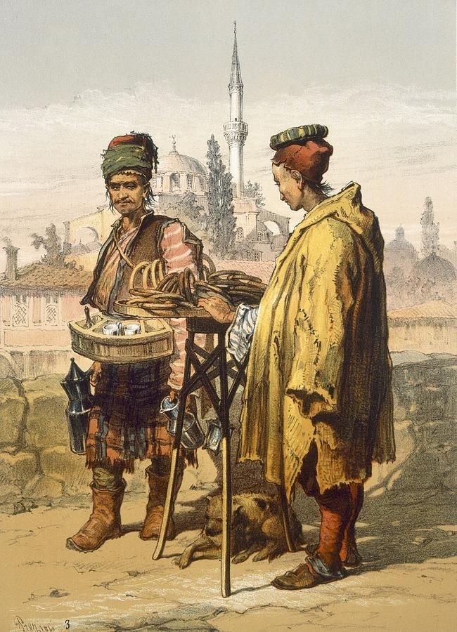 Ambulant Snack Sellers, 1865 Drawing