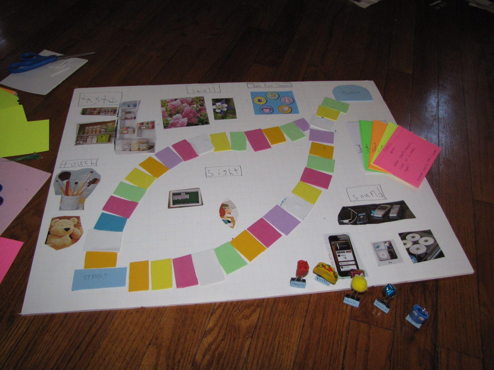 The 5 Senses Board Game School Project Ideas My Five Senses